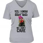 v-neck t-shirt woman