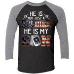Tri-Blend 3/4 Sleeve Baseball Raglan T-Shirt