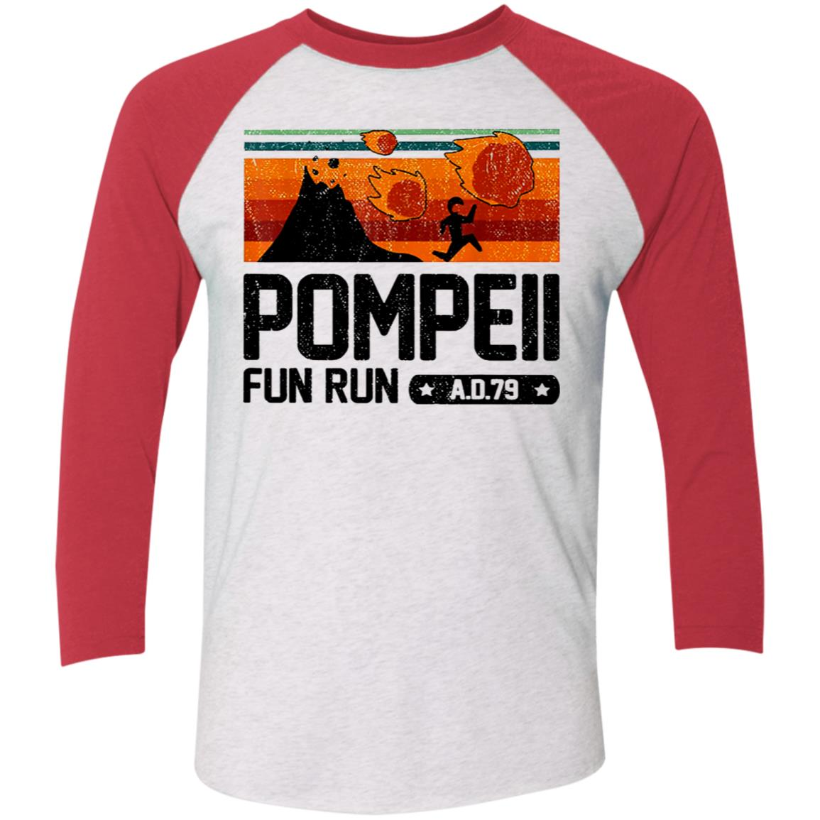 Pompeii Fun Run 79 AD Retro Vintage T-Shirt Men/'s Cotton Shirts Short Sleeve Tee