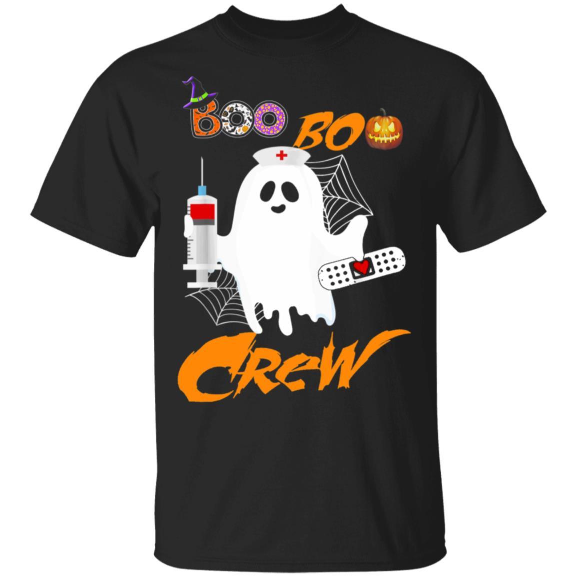 Nurse Ghost Boo Boo Crew Funny Halloween Costume Fun Gift Shirt