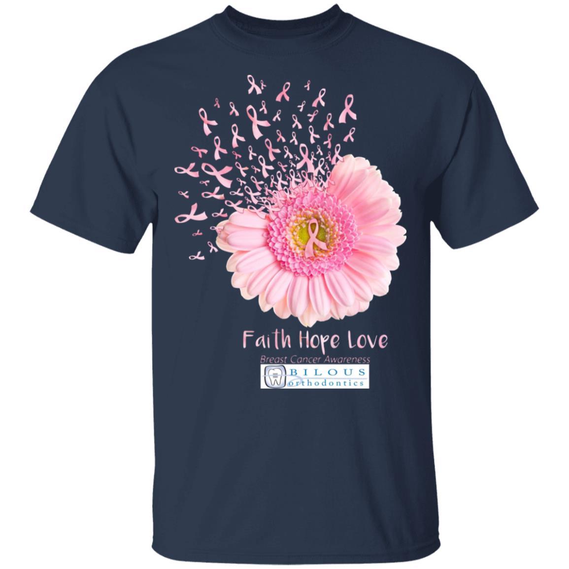 Men/'s Pink Breast Cancer Ribbon Black 3//4 Sleeve Raglan T Shirt hope love faith